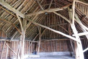 Timber frame of Landbeach Tithe Barn
