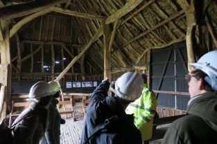 Mst Building History students at Tithe Barn